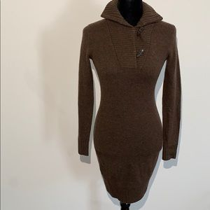 Ralph Lauren rugby sweater dress fall wool toggle